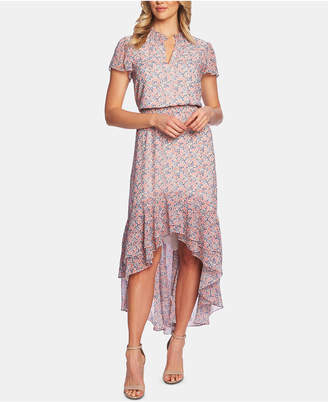 1 STATE 1.state Flutter-Sleeve High-Low Dress