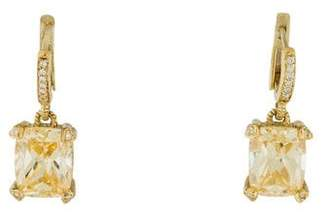 Judith Ripka 18K Crystal & Diamond Drop Earrings