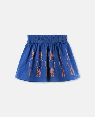 Stella McCartney nat donkeys print skirt