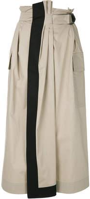 Gentry Portofino high-waist belted skirt