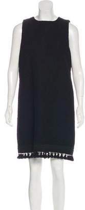 Andrew Gn Virgin Wool Mini Dress