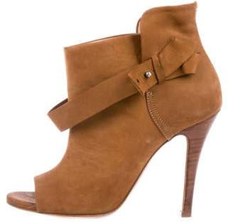 Maison Margiela Suede Peep-Toe Ankle Boots