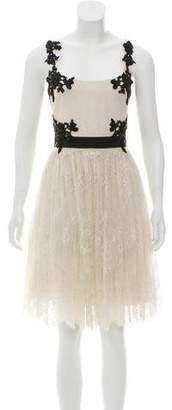 Marchesa Sleeveless Lace Dress