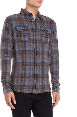 Fresh Brand Plaid Two-Pocket Shirt
