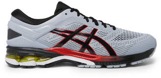 Asics Gel-kayano 26 Rubber-trimmed Mesh Running Sneakers - Gray