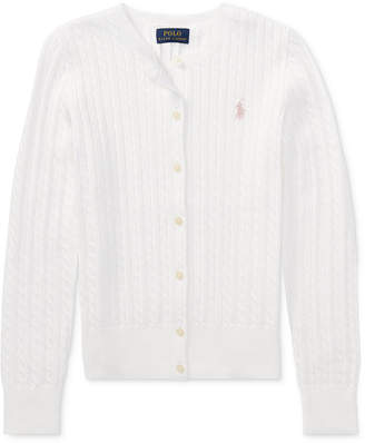 Polo Ralph Lauren Ralph Lauren Cable Cardigan, Big Girls
