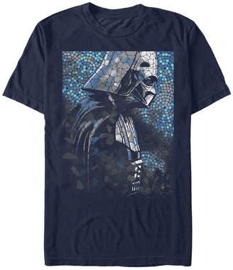 Star Wars Men Classic Darth Vader Tiles Short Sleeve T-Shirt