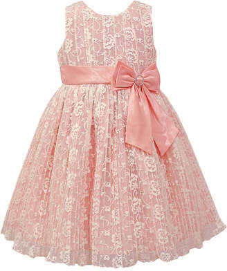 Jayne Copeland Pleated Lace Dress, Little Girls