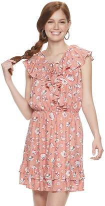 American Rag Juniors' Surplice Ruffle Dress