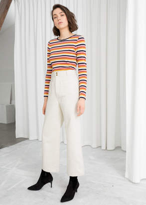 And other stories High Waisted Twill Pants