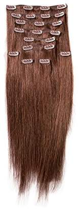 "SONO 1 Count 140 g 16"" Clip-in Straight 1 Count 100% Human Hair Extensions"