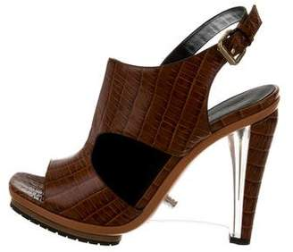 Rodarte Embossed Cutout Sandals w/ Tags