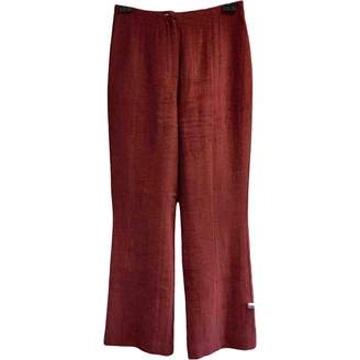 Christian Lacroix Burgundy Trousers for Women Vintage