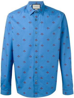 Gucci bee print shirt