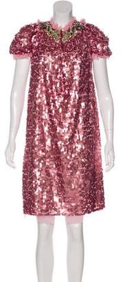 Dolce & Gabbana 2016 Crystal-Embellished Sequin Dress w/ Tags