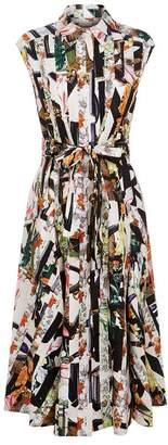 Burberry Graffiti Archive Scarf Print Shirt Dress