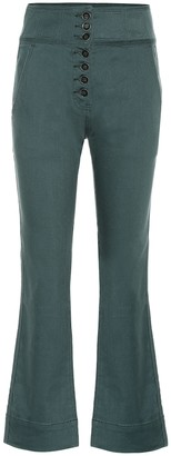 Ulla Johnson Ellis high-rise cropped jeans