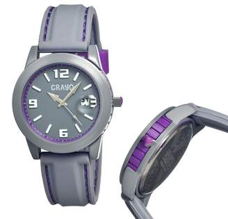 Crayo Pop Grey Stainless Steel Case Unisex Watch