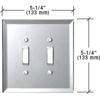 clear Cr Laurence CRL Double Toggle Glass Mirror Plate