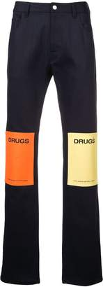 Raf Simons DRUGS straight jeans