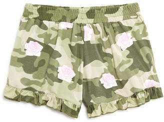 Flowers by Zoe Girls' Rose-Print Camo Shorts