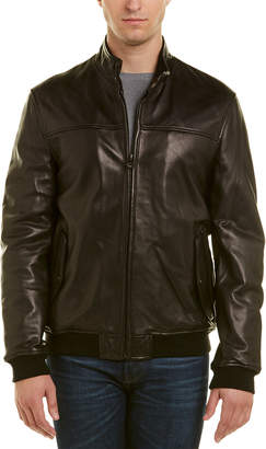 Cole Haan Leather Bomber Jacket