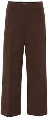 Prada High-rise wide-leg cotton pants