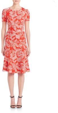 St. John Floral Jacquard Knit Dress $1,395 thestylecure.com