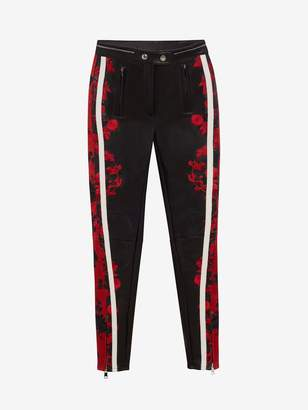Alexander McQueen Embroidered Leather Pants