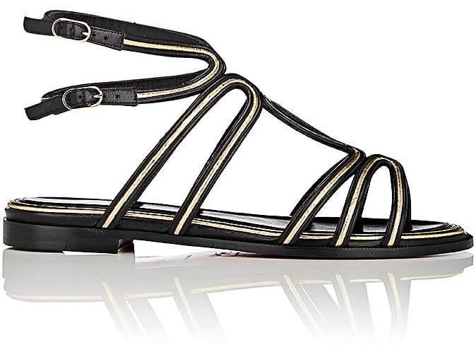 Christian Louboutin Women's Zenosandy Flat Leather Sandals