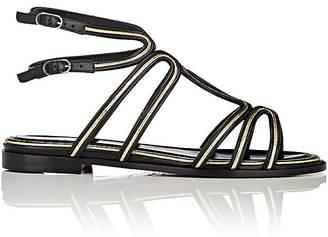 Christian Louboutin Women's Zenosandy Flat Leather Sandals $995 thestylecure.com