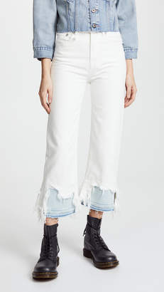 R 13 Camille Shredded Jeans