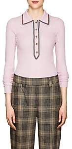 Acne Studios Women's Stripe-Detailed Rib-Knit Sweater - Pink