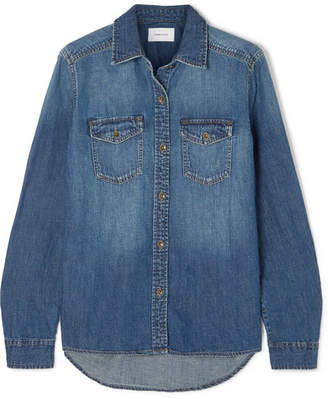 Current/Elliott The Effortless Denim Shirt - Mid denim