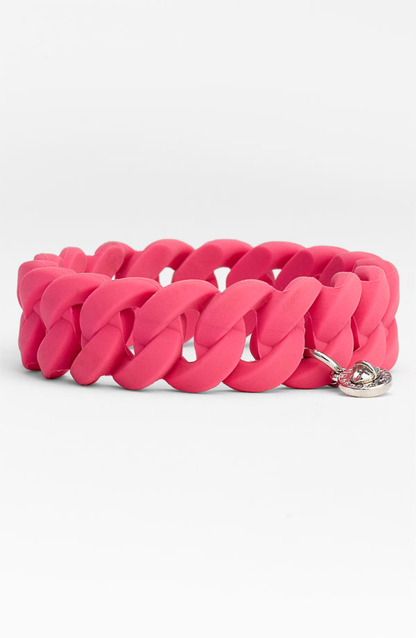Marc by Marc Jacobs 'Rubber Turnlock' Stretch Bracelet