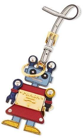prada Prada Girl Robot Charm, Red/Light Blue (Fuoco/Astrale)