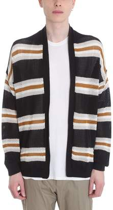 Laneus Black Cotton Cardigan