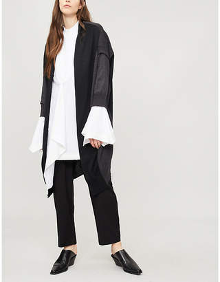 Y's Ys Panelled oversized wool cardigan