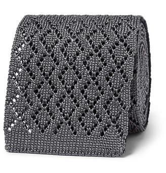 Ermenegildo Zegna 6cm Reversible Knitted Silk Tie