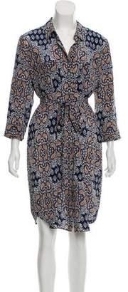 L'Agence Silk Printed Dress