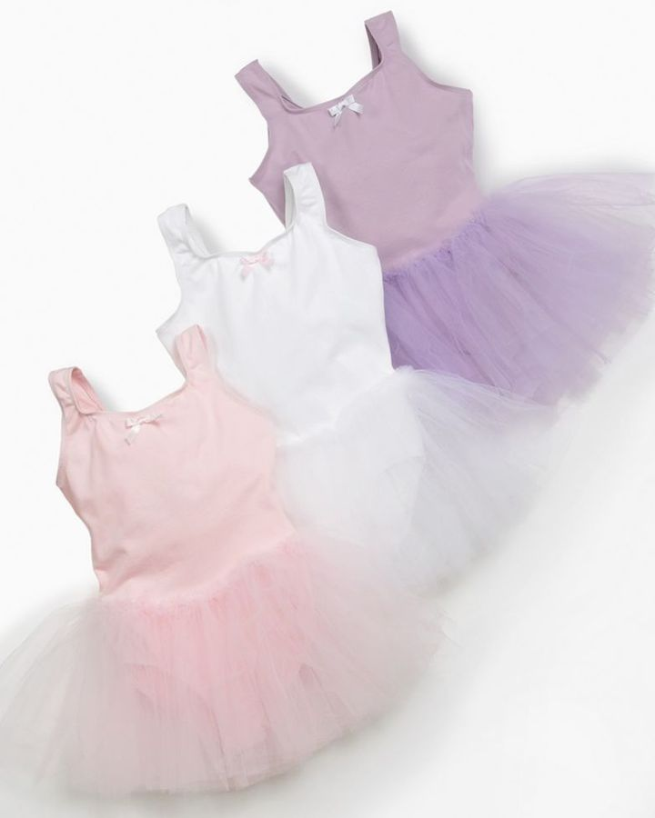 Danskin Girls Leotard with Tutu and Bow Detail