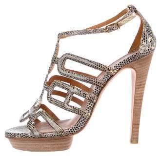Hermes Karung Platform Sandals