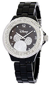 Disney Women's Mickey Black Enamel Watch $69.99 thestylecure.com