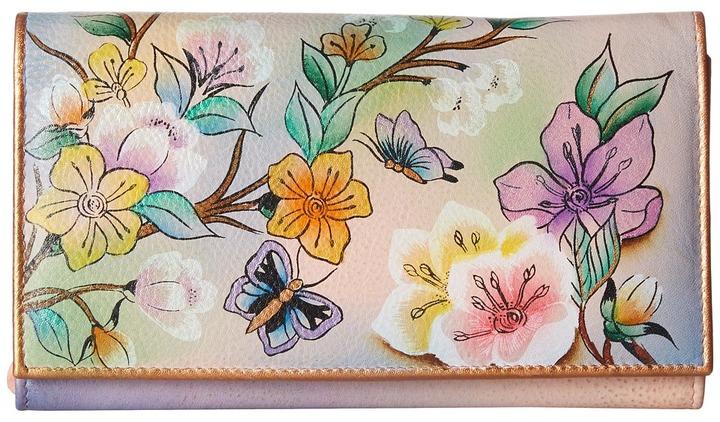 Anuschka 1043 Multi-Pocket Wallet/Clutch Handbags