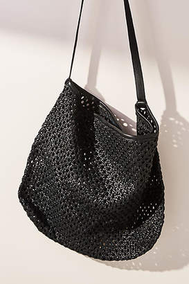 At Anthropologie En Shalla Woven Leather Tote Bag