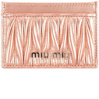 Miu Miu Metallic Card Case