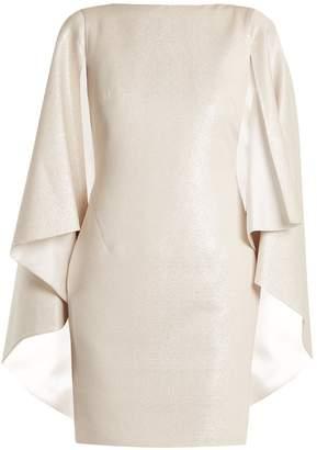 Osman Rebecca cape-sleeved dress