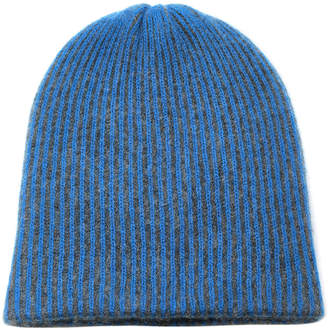 The Elder Statesman Striped Watchman Beanie