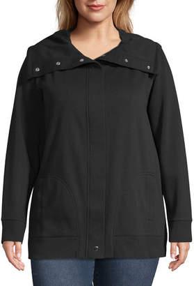 Liz Claiborne Weekend Zip Front Jacket - Plus
