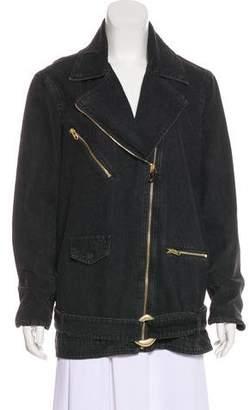 Nanushka Asymmetrical Denim Jacket